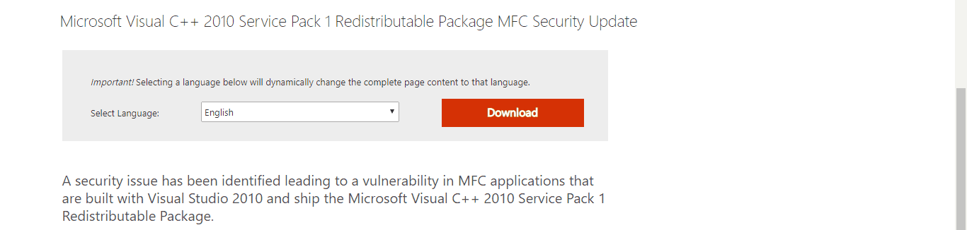 Microsoft Visual C++ Pack