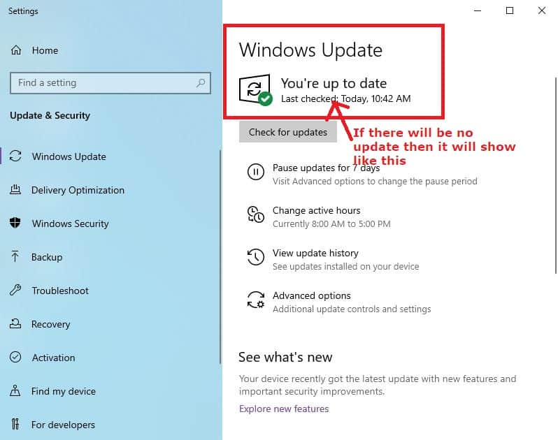 Windows update settings - ole32.dll