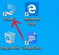 select 'This PC'
