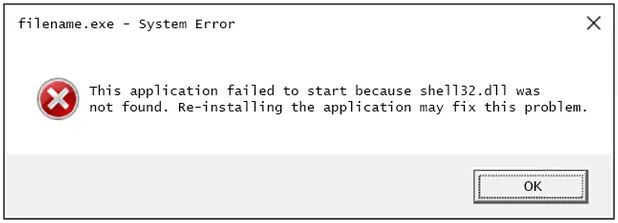 shell32.dll error