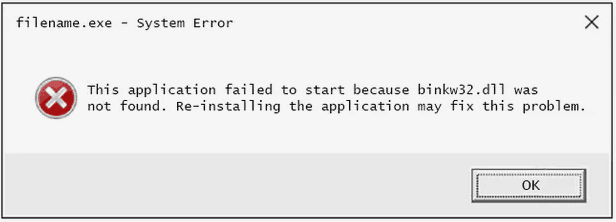 bink2w64.dll Error Pop-up
