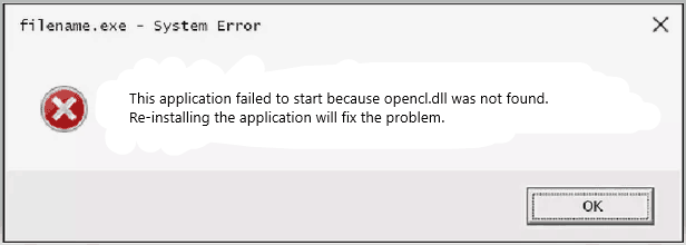 opencl.dll Error Fix