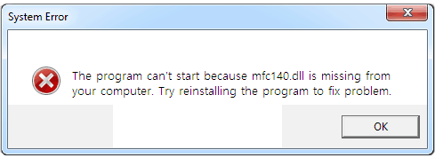 mfc140.dll error