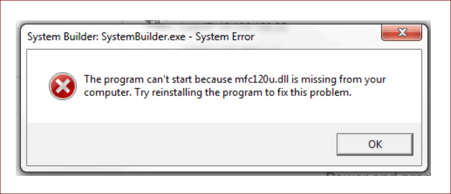 mfc120.dll error